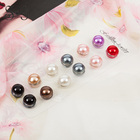 12pcs/dozen mix-color classic round solid magnet brooch hijab accessories muslim magnetic pin hijab scarf buckle magnet