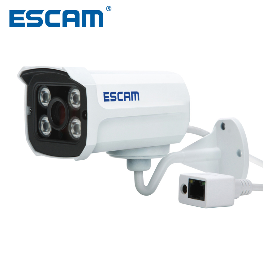 Escam QD300 Mini Bullet IP Camera 1.0 MP HD 720P Onvif P2P IR Outdoor Surveillance Night Vision Infrared Security CCTV Camera bullet camera tube camera headset holder with varied size in diameter