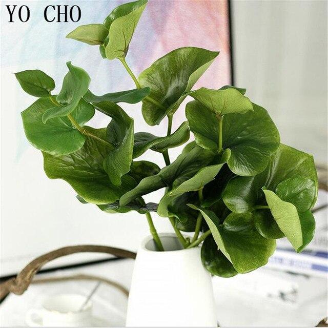 yo cho artificial leaves leaf for art scrapbooking wedding Silk Fake Plants