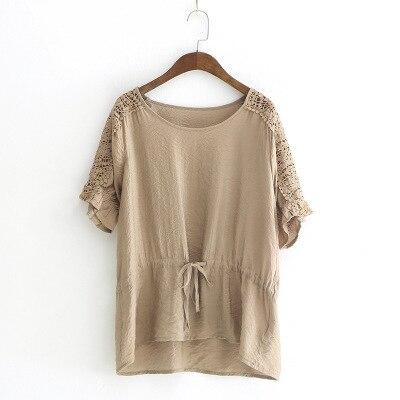 2018 summer wear new style jacket loose regular short white T-shirt girl Comfortable cotton
