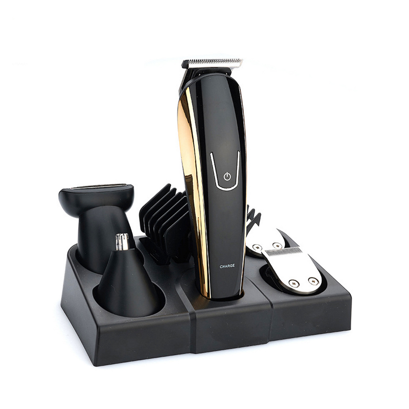New 5 in 1 Rechargeable Hair Trimmer Titanium Hair Clipper Electric Shaver Beard Trimmer Men Styling Tools Shaving Machin