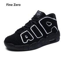Fine Zero Men Spring Autumn lace up Casual Boots Male High Top  hip hop shoes Man Air Super cool black gold Ankle Botas  Boots