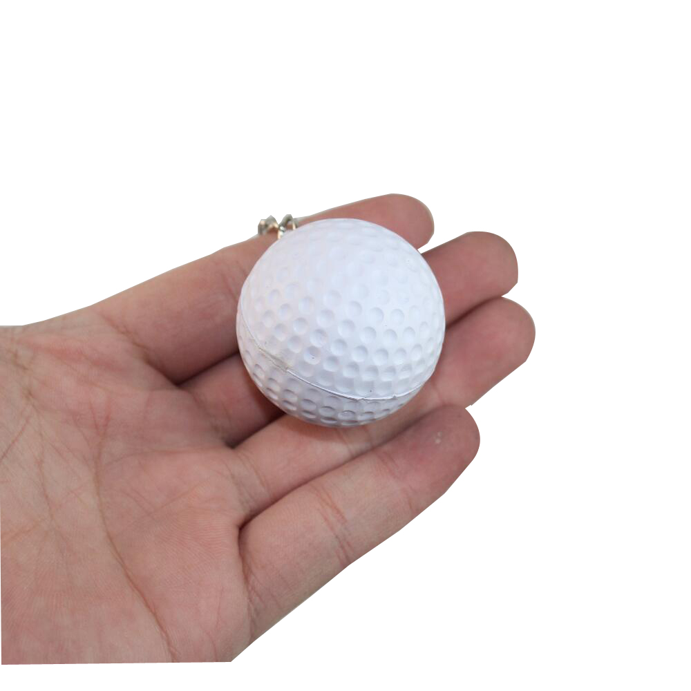 Soft Ball 4cm Basketball Volleyball Football Golf Rugby Tennis Foam Keychains Key Chain Key Ring Charm Pendant Plastic Crafts