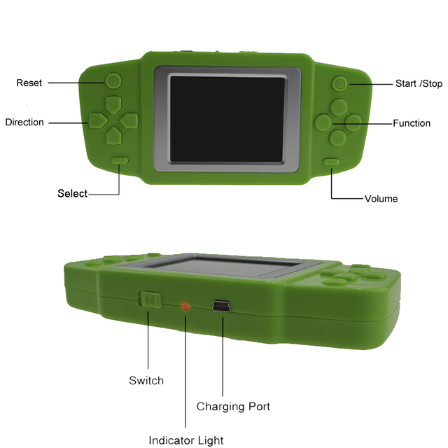 Handheld Game Player with Built-In Color Display