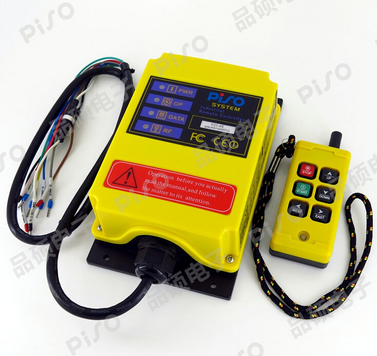 F21-4S 6 Channels Control Hoist Crane Radio Remote Control Sysem Industrial Remote Control Free Shipnsmitter and 1receiver f21 e2 radio industrial remote control for crane 6 button 1transmitter 1receiver