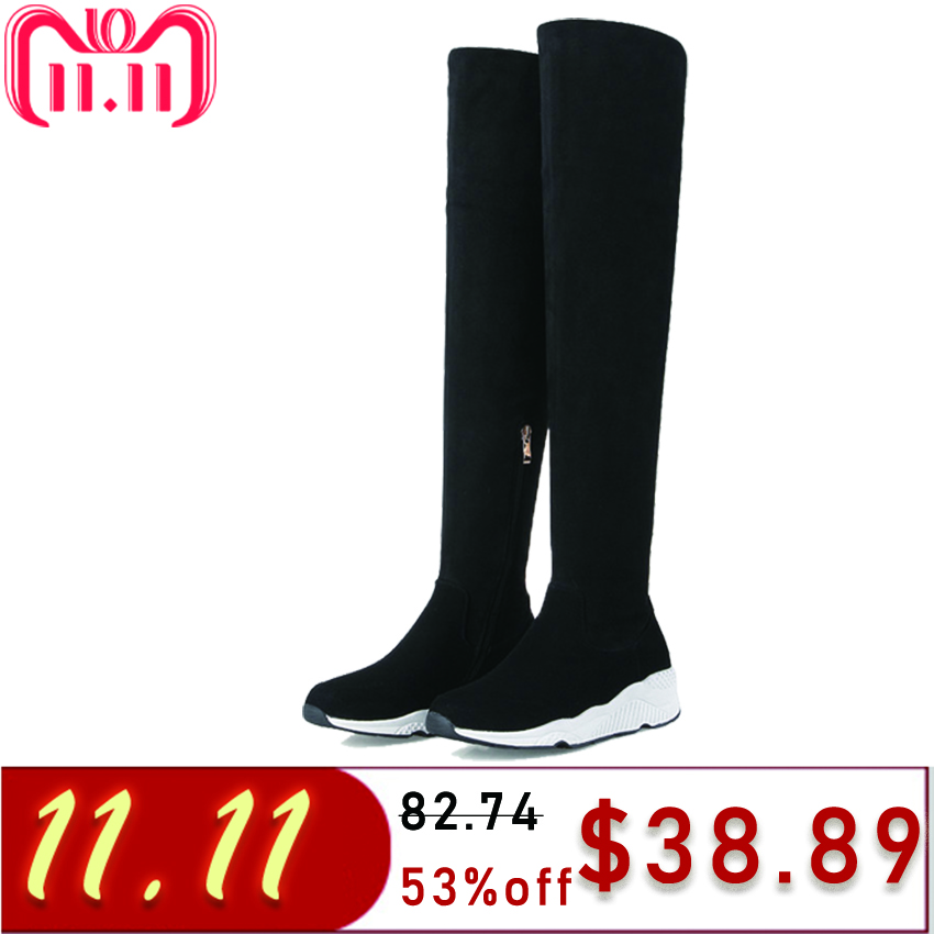 купить TASSLYNN 2018 Women Boots Warm short Plush over the knee Boots Med Heel Winter Shoes Round Toe casual Ladies Boots Size 35.39 по цене 2925.25 рублей
