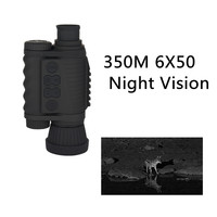 350 MRange Handheld HD 6X50 Infrared Digital Night Vision Device Tactical IR Night Monocular For Outdoor Hunting Observation
