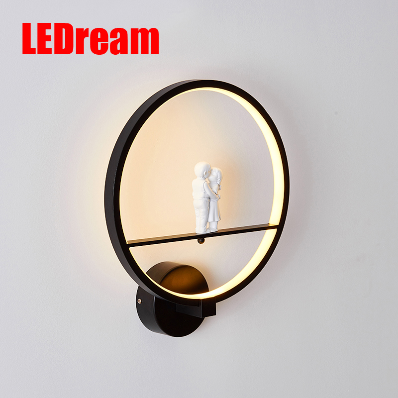 Led wall lamp contemporary and contracted creative Nordic lamps and lanterns, wedding gifts sitting room TV wall lamps contemporary and contracted ceramic lamp led three restaurant bar dining room of chinese style lamps and lanterns