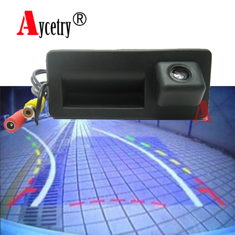 Original Dynamic Trajectory Trunk Handle Rearview Camera For Audi A4 A6 A7 Q7 Q5 Rs5 Rs6 Rear View Monitors/cams & Kits