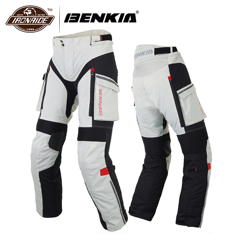 BENKIA Men Motorcycle Racing Pants Winter Rally Pants With Detachable Warm Liner Off Road Motocross Trousers Pantalon Moto jd коллекция светло телесный 12 пар носков 15d две кости размер