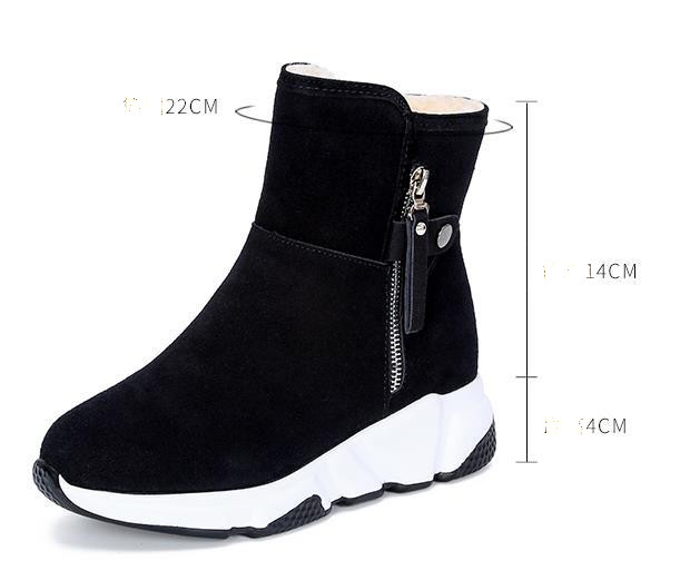 New Fashion Women Boots Snow Boots Sneakers Plush High Top Velvet Cotton Shoes Warm Lace-up Non-slip boots 51