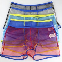 Sexy See Through Boxer Underwear Men's Mesh Boxers Shorts Tr