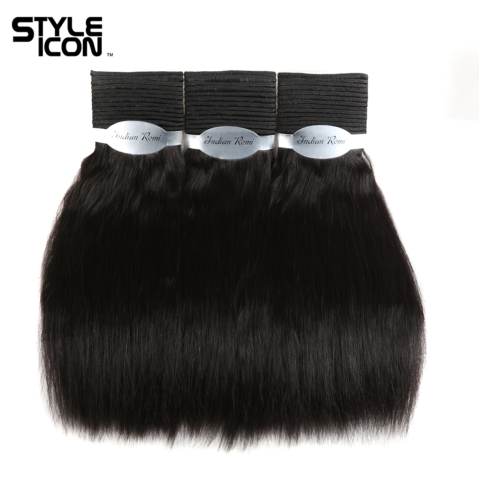 Styleicon Wet And Wavy Human Hair Bundles Indian Remy Hair Weave 3 Bundles Deal Hair Extensions Pure Color 1 1B 2 4 Hair