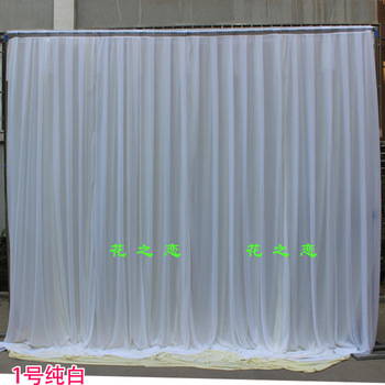 3*3M Background drop Wedding Party Stage Celebration Background Satin Curtain Drape Pillar Ceiling Backdrop Marriage decoration