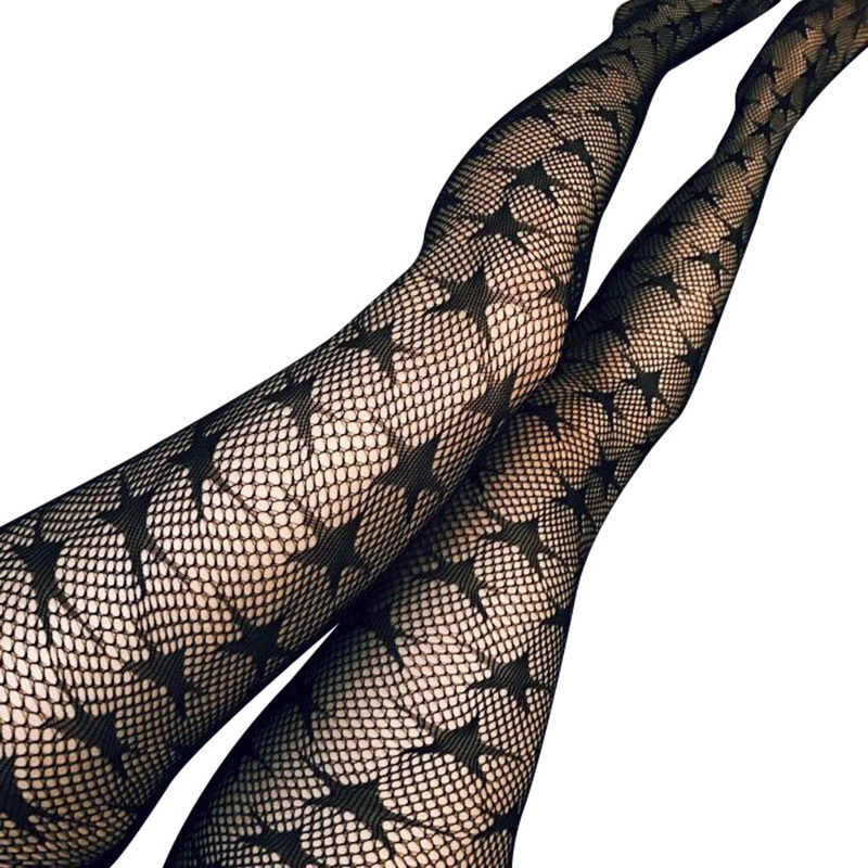 d131cc3073b73 Sexy Tights Women Stockings Mesh Fishnet Pantyhose Plus Size Stockings  Stars Hosiery Female Spring Nylon Stockings