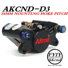 AKCND Universal CNC Motorcycle Scooters 84mm brake Calipers With2*34mm Piston For Yamaha Honda PCX Kawasaki Suzuki moto Racing