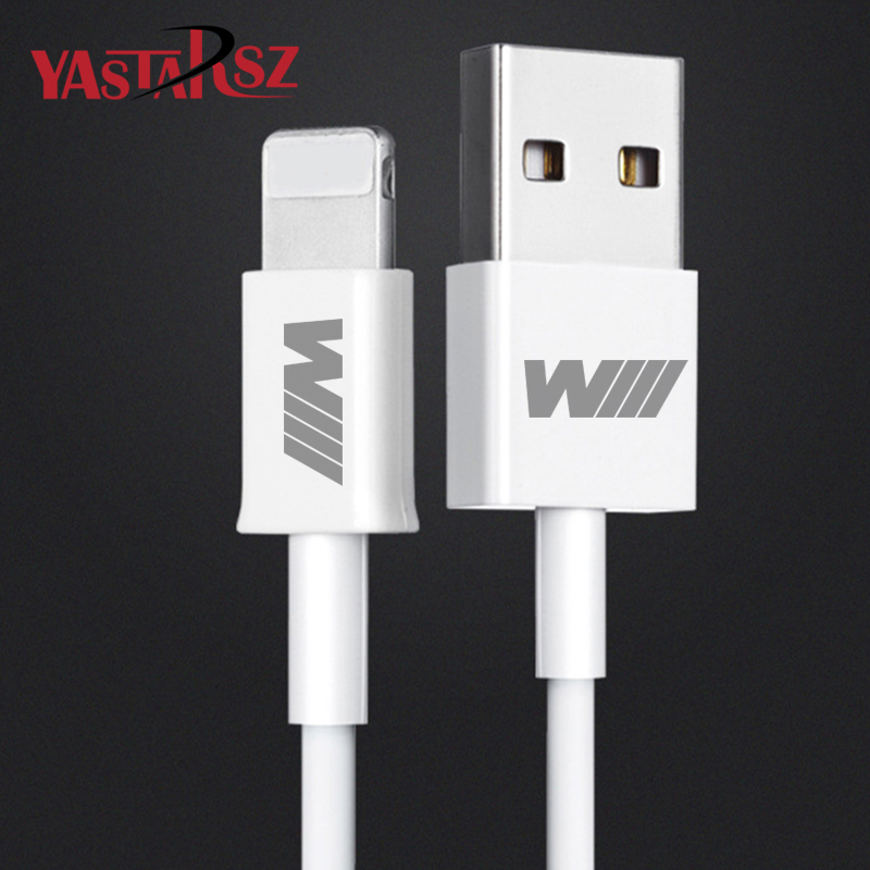 M Logo For iPhone Fast Charging Cable For BMW E46 E39 E60 E90 E36 E30 E34 X1 X3 X5 X6 Z4 E61 E93 F02 F30 F10 1 3 M3 M5 Sticker cool car auto decoration badge stickers m logo metal 3d car sticker for bmw m3 m5 x1 x3 x5 x6 e36 e39 e46 e30 e60 e92 all model