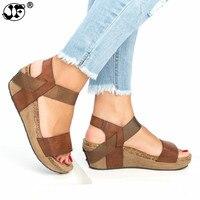 Summer Women Sandals Fashion Female Beach Shoes Wedge Heels Shoes Comfortable Platform Shoes Plus Size 42 43 822