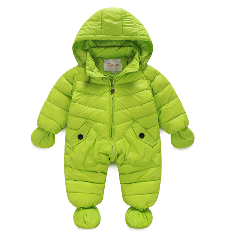 Infant Baby Snowsuit New Winter Newborn Baby Boys Girls Outerwear Coat Down Jacket Hooded Baby Jumpsuit Snow Wear winter baby snowsuit baby boys girls rompers infant jumpsuit toddler hooded clothes thicken down coat outwear coverall snow wear