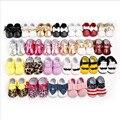 Newborn Baby Girl Boy Kids TODO Tipo De Franja de Cuero de LA PU Infant Toddler Mocasines Moccs Suaves Zapatos del Pesebre Bebe Zapatos de Suela Blanda