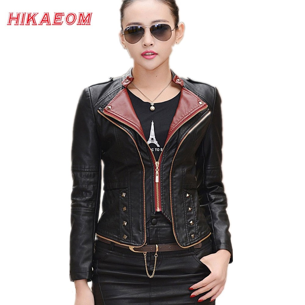 Leather jacket sale womens - Feminina Jaqueta Feminin 2017 Leather Jacket Women Motorcycle Coat Slim Womens Short Biker Faux Leather Jackets