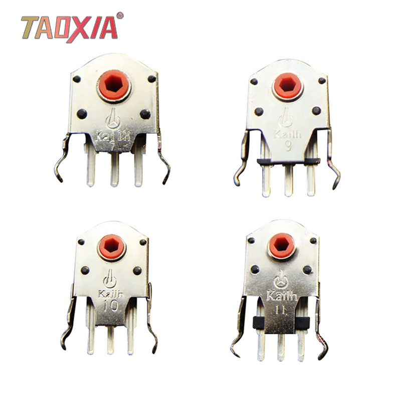 New 1pcs Repair Parts Red Core Dustproof Mouse Wheel Encoder 7 / 9 / 10 / 11mm High Precision Decoder Life 3 Million