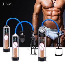 Luvkis 3 Styles Vacuum Penis Enlargement Easy to Operate Penis Extender Pump Sleeve Male Enhancement Great Quality Sex Product