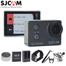 Original SJCAM SJ7 Star 4K 30fps 2.0″ Touch Screen Ambarella A12S75 Remote 30M Waterproof Sport Action Camera Many Accessories