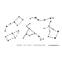 1PC Space Constellation Temporary Tattoo Stickers Cosmic Ecology Fake Tattoo Endless Universe