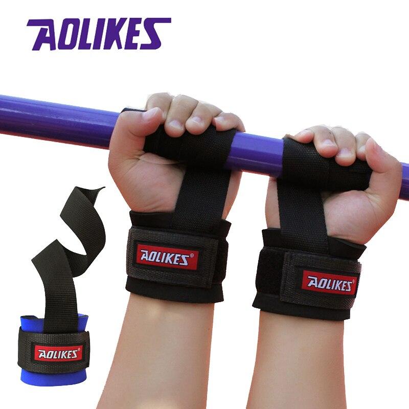 AOLIKES 1 par de muñequera ajustable para hombre muñequera correa de gimnasio banda de apoyo de muñeca para ejercicio de levantamiento de pesas