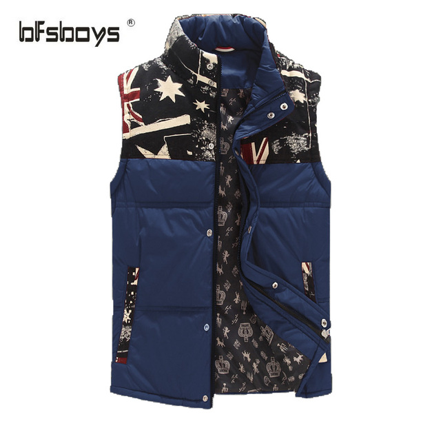 Winter stand collar plus size casual male multi-color hot-selling all-match thermal vest cotton slim nylon men's clothing j-11