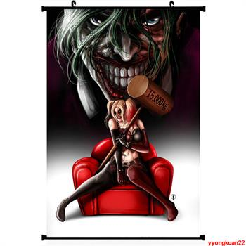 2431f5626841 Anime Suicide Squad Joker Harley Quinn Poster Wall Scroll Japan -in ...