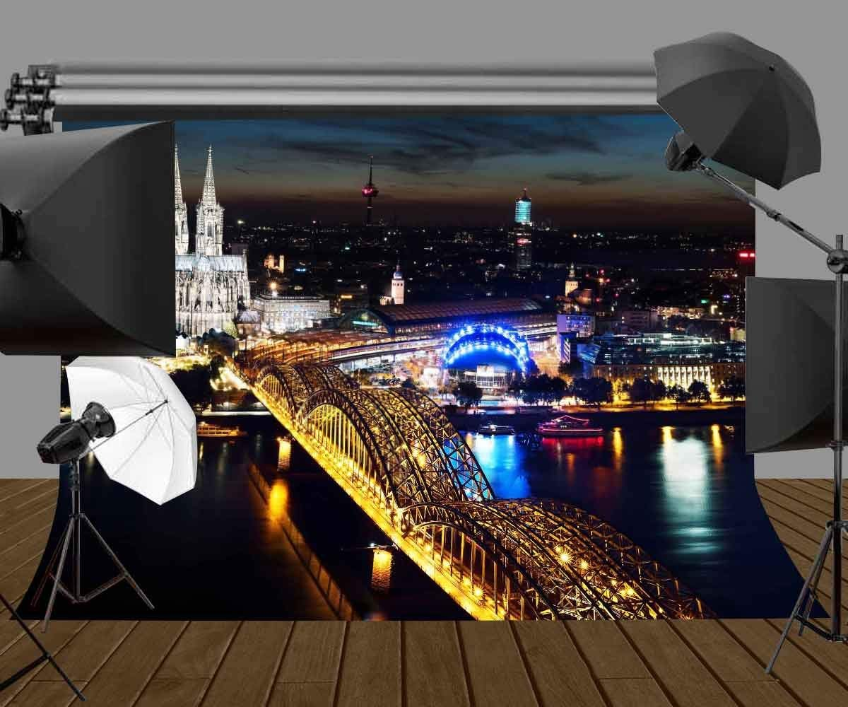 150x220cm City Night View Backdrop Cologne Cathedral Photography Background Studio Props in Photo Studio Accessories from Consumer Electronics