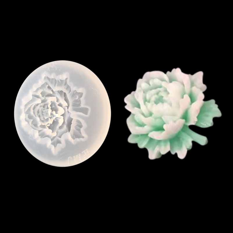 Vereinigt Javrick 3d Blume Rose Silikon-form-form Für Harz Schmuck Anhänger Halskette, Perlen & Schmuck Machen