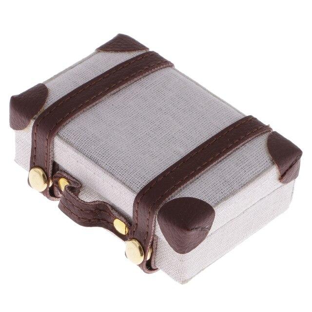 1:6 Doll House Mini Suitcases Creative Portable Suitcase Diy Accessories for Decorat