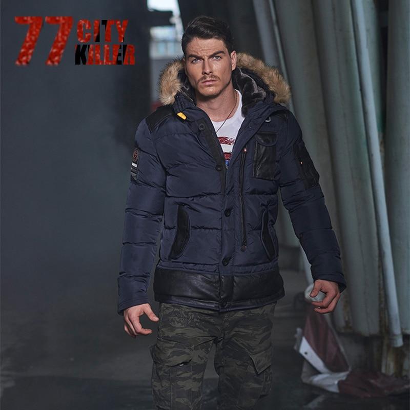 77City Killer Men Jacket 2017 Brand Casual Mens Jackets And Coats Thick Parka Men Outwear Plus Size 3XL Jacket Clothing P907 new 2016 jacket men fashion casual loose mens jacket sportswear bomber jacket mens jackets and coats plus size yc37679