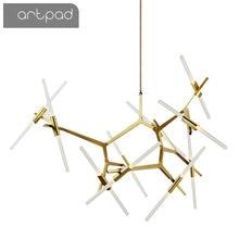 Personalización Post-moderna espiga nórdica colgante contemporáneo luz salón comedor regulable bombilla G9 lámparas colgantes LED
