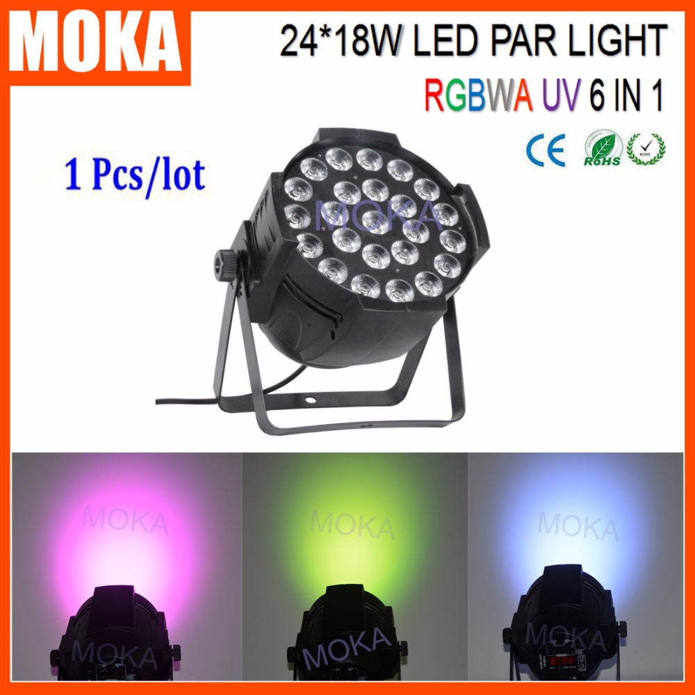 Led Par Stage Light RGBAW-UV 24*18w Par 64 Led DMX Disco Light 24X18W LED Digital Screen Par Lighting 30lot professional sound equipment led par64 light 7x18w rgbaw uv par light effect
