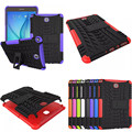 HH-XW  Dazzle Impact Hybrid Armor Kickstand Hard TPU+PC Back Case for Samsung Galaxy Tab A 8.0 inch P350 P355C T350 T355 SM-T355