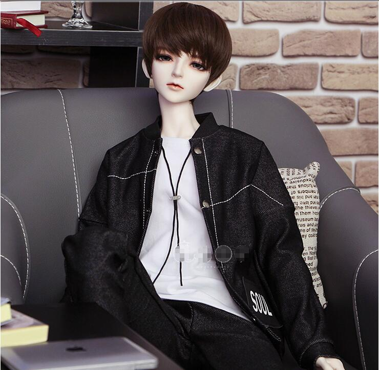 NEW BJD Doll Clothes 1 4 1 3 Uncle SD Doll Black Long sleeves Handsome Everyday