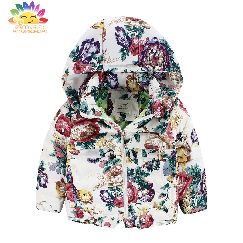 ФОТО Yingwaaiyi Children's Coats and jackets duck down jacket girl 2017 kids warm coat girls parka winter jacket girls child baby