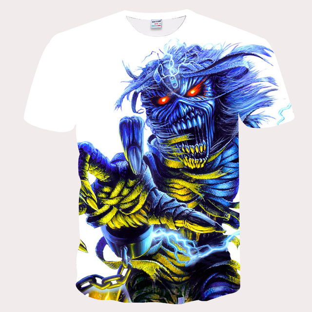 Mr.BIANYILONG 2018 New Cool Men/Women 3d Print Blue Mummy Red Eyes Hip Hop TShirts Summer Tops Tees Fashion 3D shirts