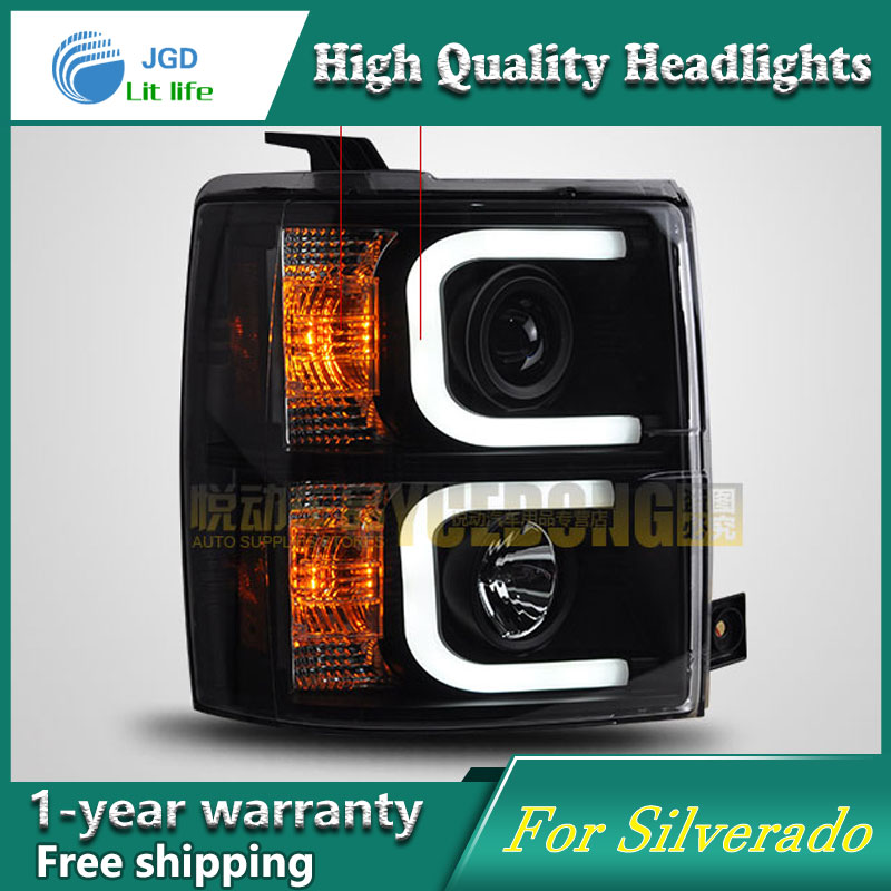 high quality Car styling case for Chevrolet Silverado Headlights LED Headlight DRL Lens Double Beam HID Xenon car accessories high quality car styling case for vw tiguan 2017 headlights led headlight drl lens double beam hid xenon car accessories