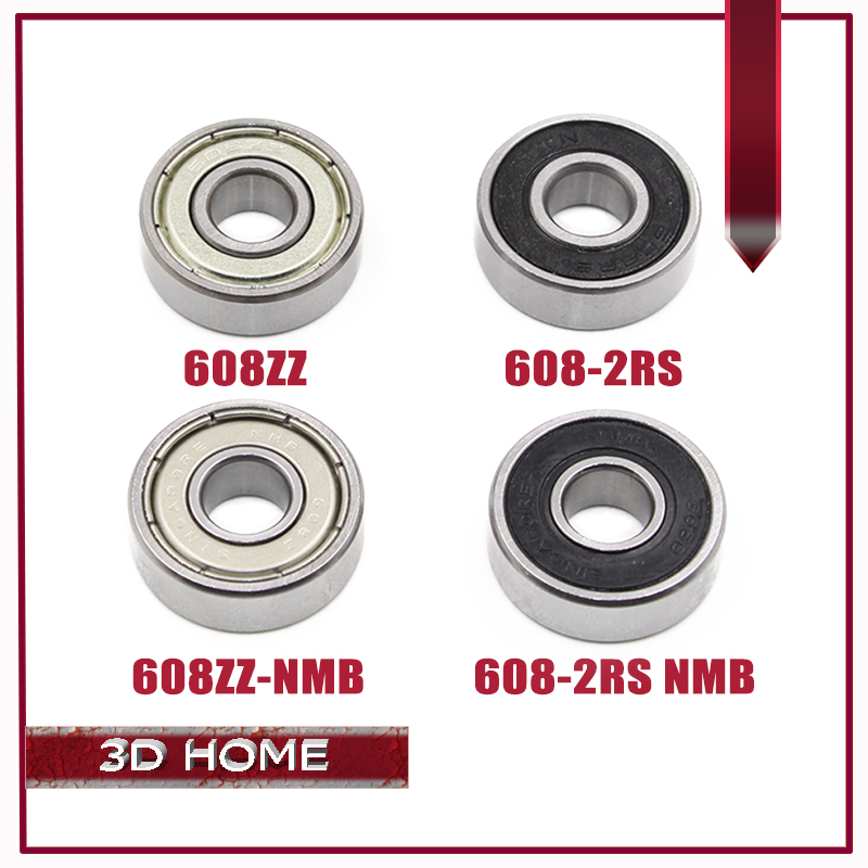 5PCS ABEC-7 Deep groove ball bearing 608ZZ 608z 2RS NMB 8X22X7 mm bearing steel 608 ZZ skating bearing for 3D printer for CNC abxg 23327 2rs speed connection drum bearing 23327 2rs for sram bicycle hub repair parts bearing 23x32x7 mm 23 32 7 mm