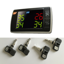 Udricare Orange TPMS P409S Car Tire Pressure Temperature Monitoring Systems 4 Internal Sensors Display Whole Sets