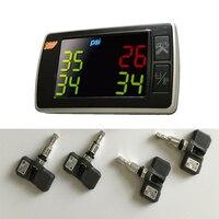 Udricare Orange TPMS P409S Car Tire Pressure Temperature Monitoring Systems 4 Internal Sensors Display Whole Sets