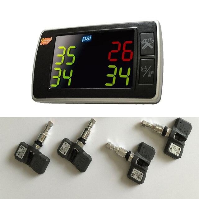 Udrive Оранжевый TPMS P409S автомобильных шин давление системы контроля температуры 4 внутренних датчики дисплей целые наборы