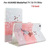 Smart Case For Huawei T1 7 0 T1 701u Silicone PU Leather Cover Funda For Huawei