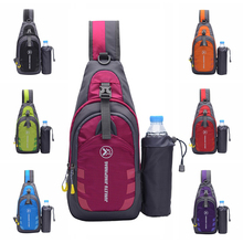 Outdoor Running Sling Bag Chest Shoulder Backpack Crossbody Bags With Bottle Holder For iPad Tablet Hiking Sports Equipment