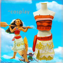 Cosplay Costume Sets Disney Moana Children 2019 New Animation Fashion Novelty Adult Kids Halloween Accessories